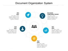 Document Organization System Ppt Powerpoint Presentation Templates Cpb