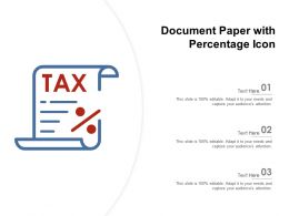Document Paper With Percentage Icon