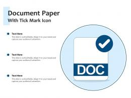 Document Paper With Tick Mark Icon