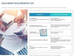 Document Requirement List Ppt Powerpoint Presentation Icon
