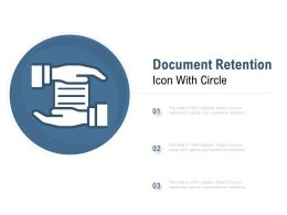 Document Retention Icon With Circle