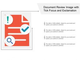 Document Review Image With Tick Focus And Exclamation
