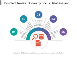Document Review Shown By Focus Database And Document Image