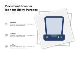 Document Scanner Icon For Utility Purpose