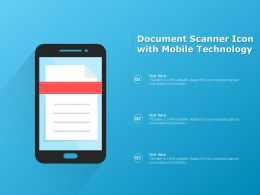 Document Scanner Icon With Mobile Technology