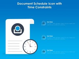 Document Schedule Icon With Time Constraints
