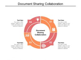 Document Sharing Collaboration Ppt Infographic Template Images Cpb