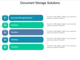 Document Storage Solutions Ppt Powerpoint Presentation Slides Elements Cpb