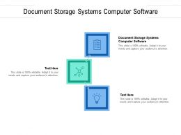 Document Storage Systems Computer Software Ppt Infographics Show Cpb