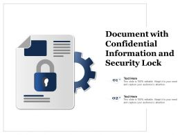 Document With Confidential Information And Security Lock