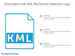 Document With KML File Format Extension Logo