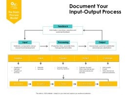 Document Your Input Output Process Ppt Powerpoint Presentation Icon Graphics
