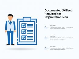 Documented Skillset Required For Organization Icon