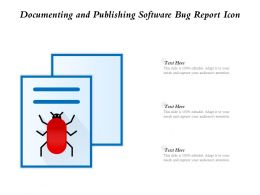 Documenting And Publishing Software Bug Report Icon
