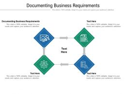 Documenting Business Requirements Ppt Powerpoint Presentation Portfolio Background Cpb