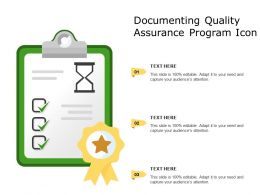 Documenting Quality Assurance Program Icon