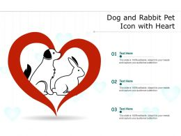 Dog And Rabbit Pet Icon With Heart