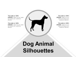 Dog Animal Silhouettes Powerpoint Ideas