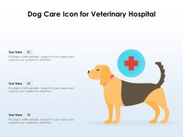Dog Care Icon For Veterinary Hospital