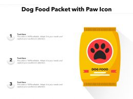 Dog Food Packet With Paw Icon