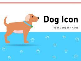 Dog Icon Snacks Retriever Position Store Prohibited