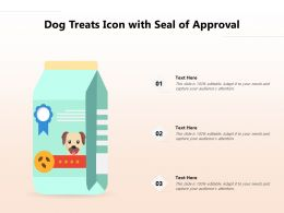 Dog Treats Icon With Seal Of Approval
