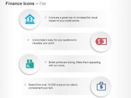 Dollar Bank Banknote Money Bag Ppt Icons Graphics