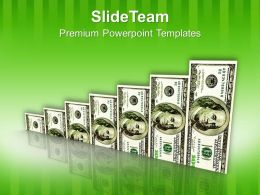 Dollar Bill Graph Business Growth Success PowerPoint Templates PPT Themes And Graphics 0213