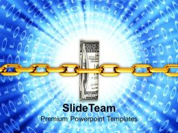 Dollar Bills Tightly Packed With Chain Powerpoint Templates Ppt Themes And Graphics