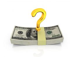 Dollar Bundle With Question Mark Stock Photo