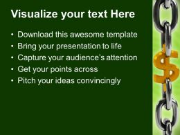 Dollar Chain Business Powerpoint Templates Ppt Themes And Graphics 0113