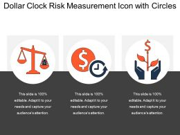 Dollar Clock Risk Measurement Icon With Circles