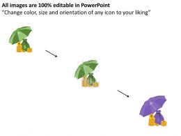 dollar_coins_and_bags_under_the_umbrella_flat_powerpoint_desgin_Slide02