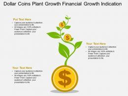 Dollar Coins Plant Growth Financial Growth Indication Flat Powerpoint Design