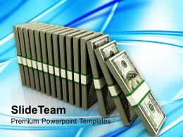 dollar_dominoes_business_powerpoint_templates_ppt_themes_and_graphics_0113_Slide01