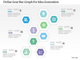 Dollar Gear Bar Graph For Idea Generation Flat Powerpoint Design