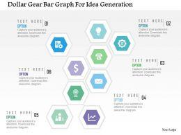 dollar_gear_bar_graph_for_idea_generation_flat_powerpoint_design_Slide01