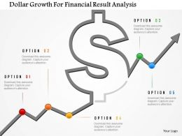 Dollar Growth For Financial Result Analysis Powerpoint Template