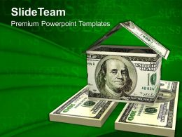 Dollar House Business Powerpoint Templates Ppt Themes And Graphics