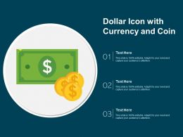 Dollar Icon With Currency And Coin