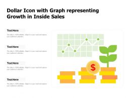 Dollar Icon With Graph Representing Growth In Inside Sales