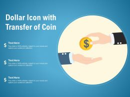 Dollar Icon With Transfer Of Coin