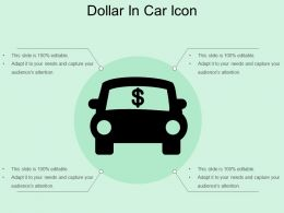 Dollar In Car Icon