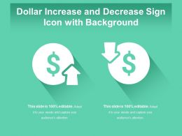 Dollar Increase And Decrease Sign Icon With Background