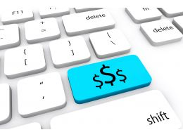 Dollar Key On Keyboard Stock Photo