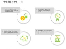 Dollar Lock Percentage Symbol Piggy Financial Saving Ppt Icons Graphics
