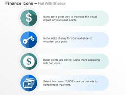 Dollar Master Card Dollar Key Growth Representation Ppt Icons Graphics