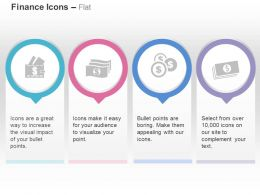Dollar Money Banknote Dollar Coins Ppt Icons Graphics