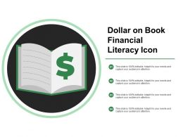 Dollar On Book Financial Literacy Icon