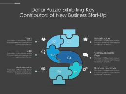 Dollar Puzzle Exhibiting Key Contributors Of New Business Start Up